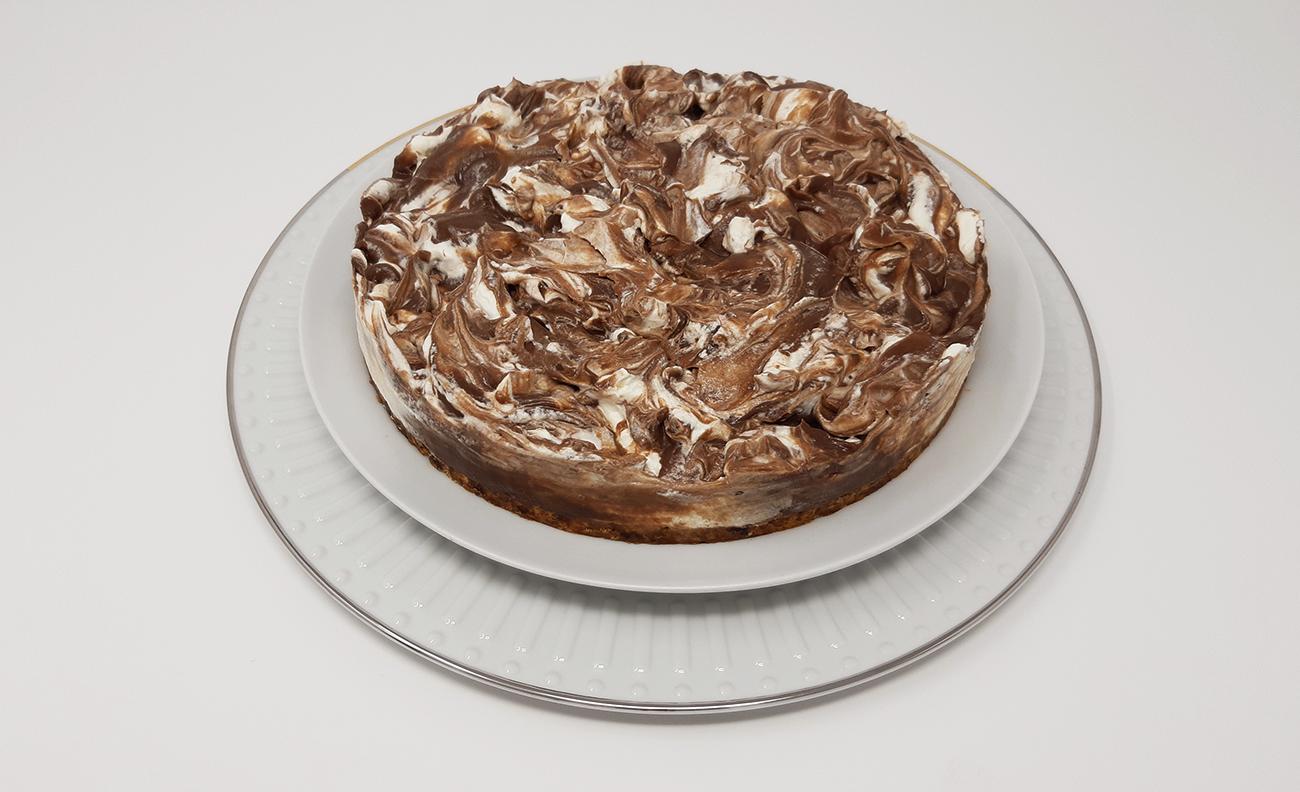 Fatia Tarte Cremosa de Chocolate